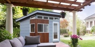 Create an outdoor oasis with a personalized shed