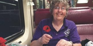 Wearing a poppy supports veterans
