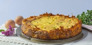 Recipe: Hash Brown & Chive Goat Cheese Quiche